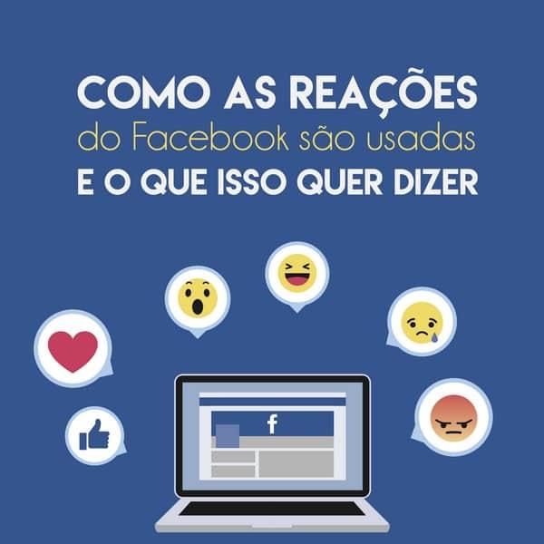 Como as reações do Facebook são usadas e o que isso quer dizer