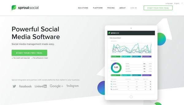 Sprout Social, popular ferramenta de monitoramento de redes sociais